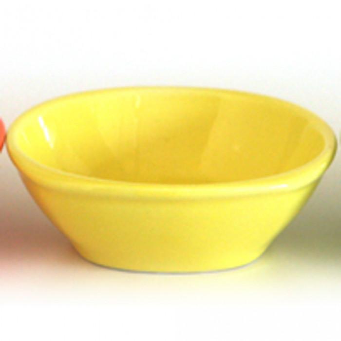 Керамична квадратна купа 10см жълто