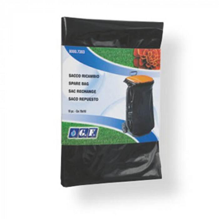 Полиетиленови торби за отпадъци 70х110см 100л 10 броя