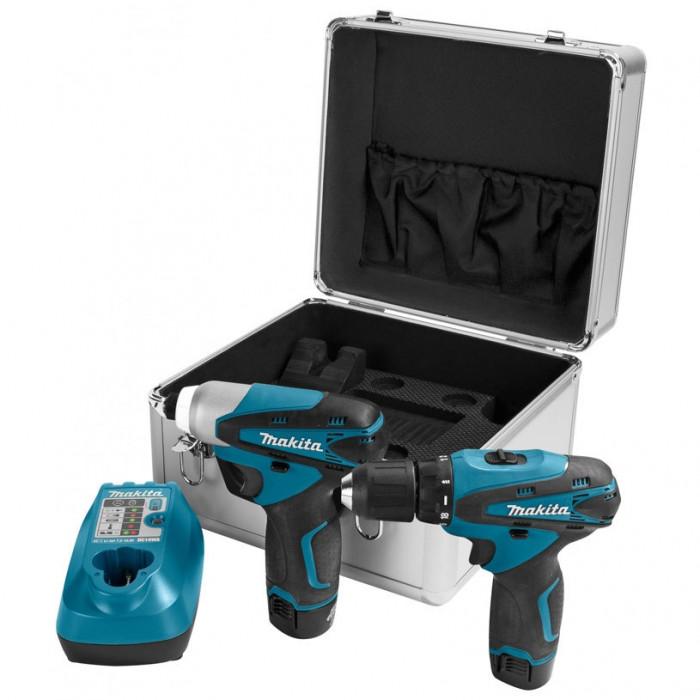 Комплект акумулаторен винтоверт + ударен гайковерт Makita LCT204
