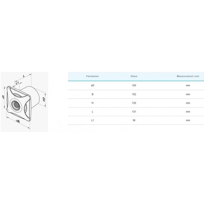 Вентилатор Vents 100 X star / 16W