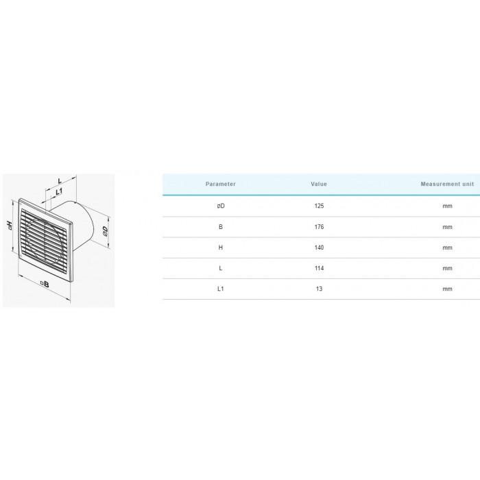 Вентилатор Vents 125S / 16W
