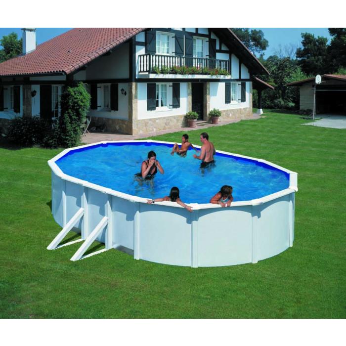 Сглобяем басейн с метална стена 500x300х120см