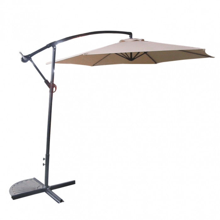 Градински чадър Лале TLB017-300-6 Taupe 3м