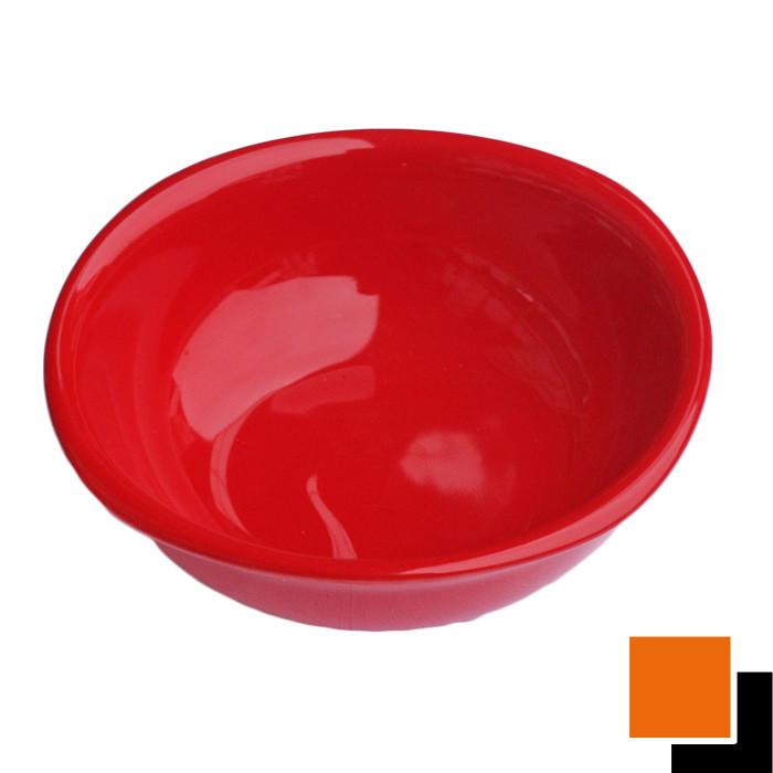 Квадратна керамична купа 16см червена / черна