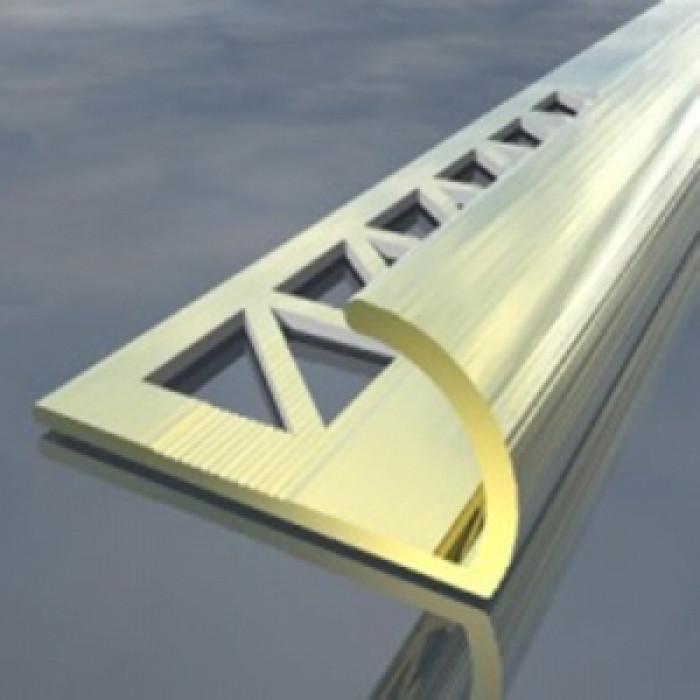 Полирана алуминиева лайсна външен ъгъл 10мм 2.5м хром