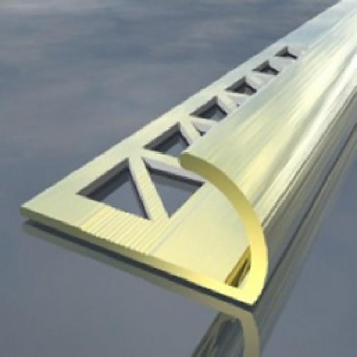 Алуминиева лайсна външен ъгъл 8мм злато 2.5 метра