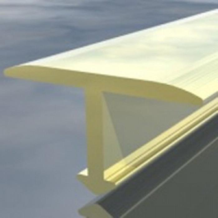 Алуминиева Т-образна лайсна 15мм 2.7м злато