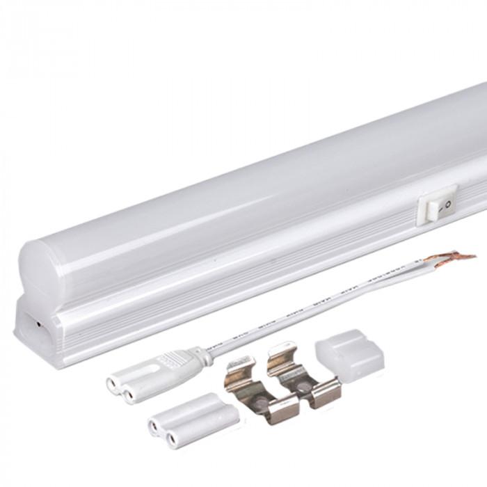 Осветително тяло SMD 2835 LED T5 термопластик неутрална 220V 270 4W