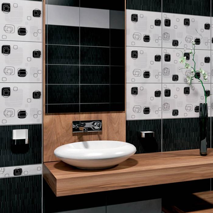 Плочки за стенна декорация / фриз 60 x 400 Линеа лукс черни