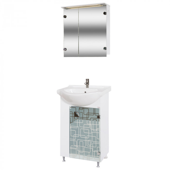 Долен шкаф за баня с мивка Макена Трино
