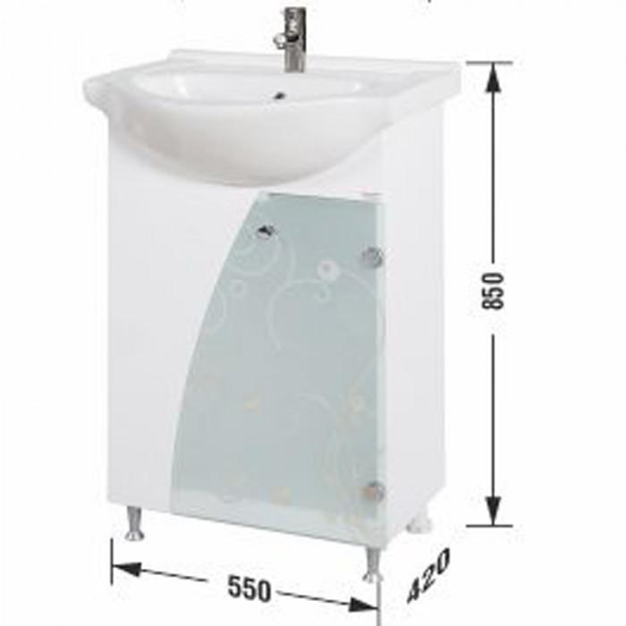 Долен шкаф за баня с умивалник Макена Венеция