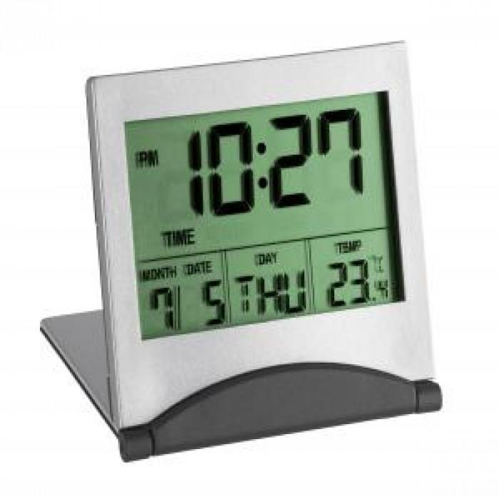 Мултифункционален часовник с термометър / будилник / дата 73x12x63мм