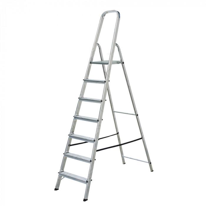 Алуминиева стълба 6+1 стъпала 144см 120кг