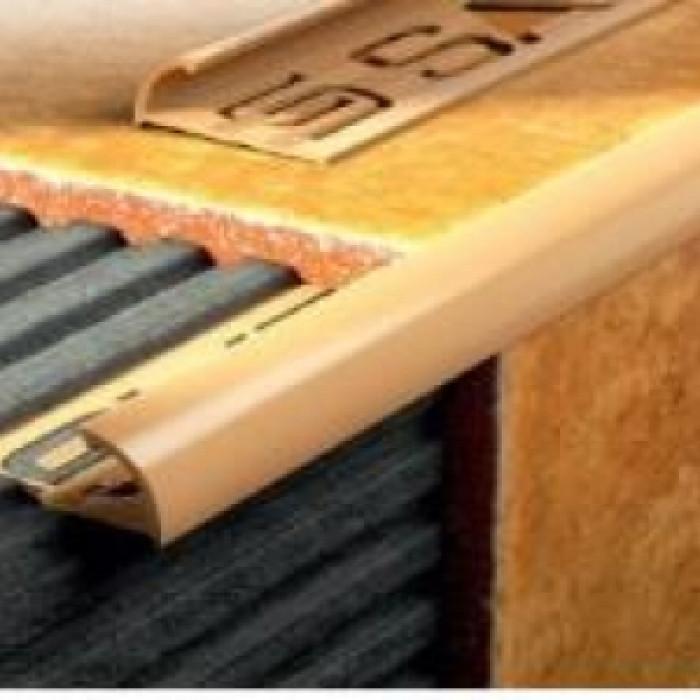 PVC външен ъгъл 2.5м мрамор кафява перла