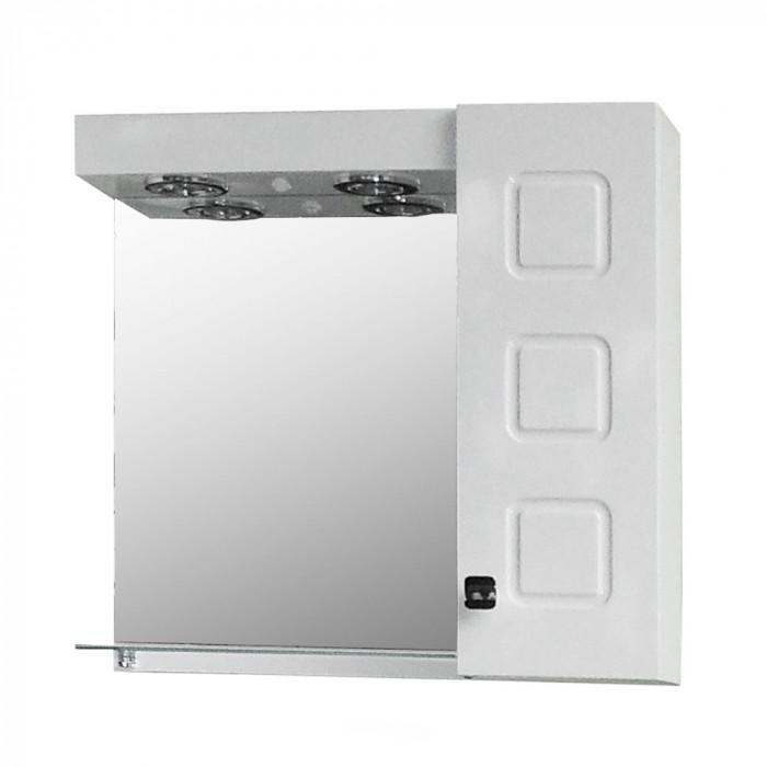 Горен шкаф за баня с огледало Макена Омега 60х60см