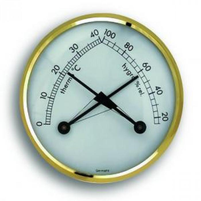 Стенен термометър и хигрометър 0 до +40°С 15 до 100% Ø71x26mm