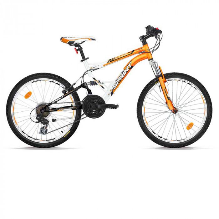 Велосипед Reborn Eco 24 бял и манго