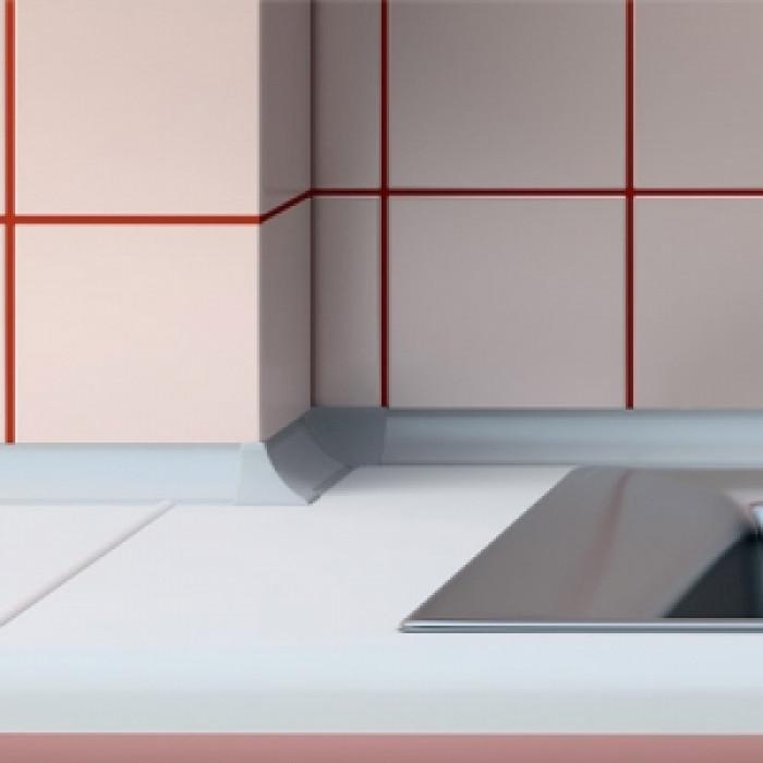 Водобранна лайсна 3м червен мрамор  23х23мм