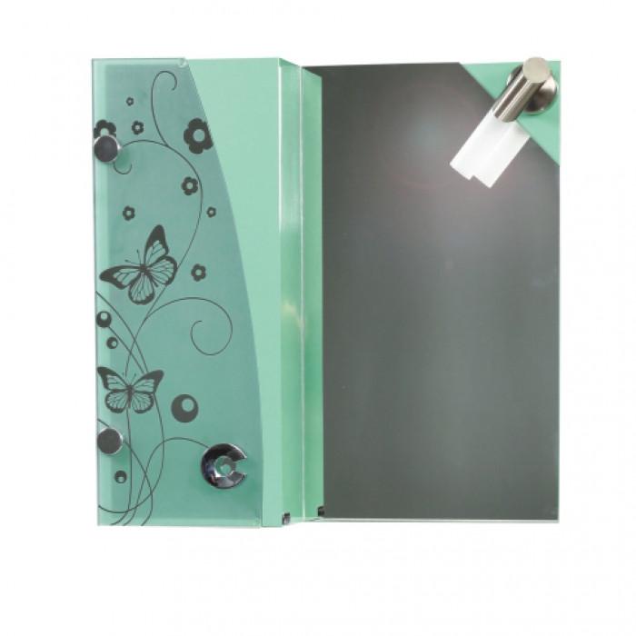 Горен PVC шкаф за баня с огледало Макена 127
