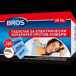 Таблетки против комари за електрически изпарител Bros 20 броя