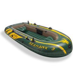 Надуваема триместна лодка Intex 68380NP Seahawk ТМ 3