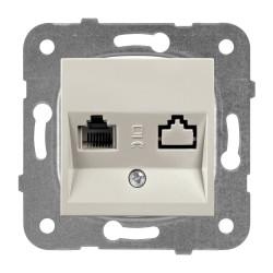 Компютърна розетка CAT5e мех+капак бронз Panasonic Каре Плюс