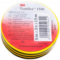 Изолирбанд 3М Temflex 1500 жълт-зелен 10м/15мм