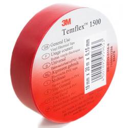 Изолирбанд 3М Temflex 1500 червен 10м/15мм