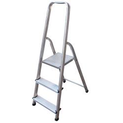 Алуминиева стълба сертифицирана Drabest 125кг / 2+1 стъпала