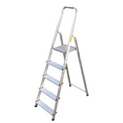 Алуминиева сертифицирана стълба Drabest 125кг / 4+1 стъпала