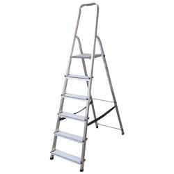 Алуминиева сертифицирана стълба Drabest 125кг / 5+1 стъпала