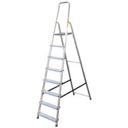 Алуминиева сертифицирана стълба Drabest 125кг / 7+1 стъпала