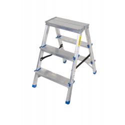 Алуминиева домакинска двустранна стълба Drabest 125кг / 67 см