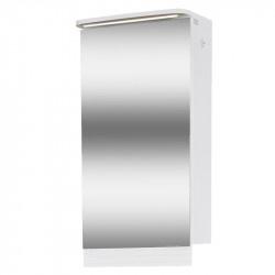 Горен шкаф за баня с LED осветление и огледало Макена Лео