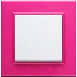 Рамка за електрически ключ Karea цикламено розова