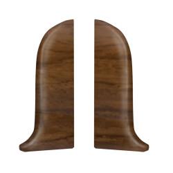 Тапи лява + дясна за PVC перваз SALAG  SG56/10 - ОРЕХ