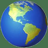 globe showing americas