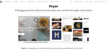I just saw that the Hryzn website is on the Betalist website for startups!! Shout out to Betalist for putting Hryzn on their website and Twitter page. Check it out in the link below and share it with others. Have a great weekend!! :)