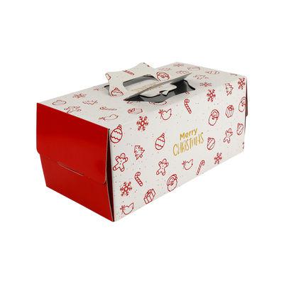 "REDMAN LOG CAKE BOX 10""X6""X6""H /XMAS PARTY"