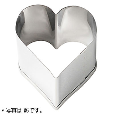 TOMIZ S/S HEART PUTTY CUTTER 52X52XH45MM