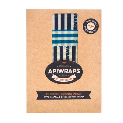 APIWRAPS BEESWAX CHEESE LOVERS