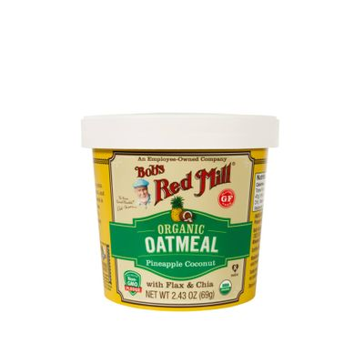 BOB'S RED MILL GLUTEN FREE ORGANIC OATMEAL CUP-PINEAPPLE COCONUT