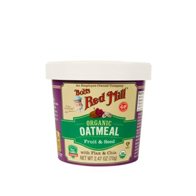 BOB'S RED MILL GF OG OATMEAL CUP-FRUIT SEED