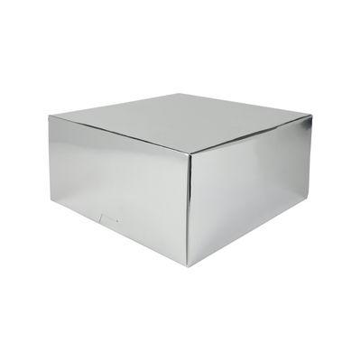 """REDMAN SILVER CAKE BOX 10X10X5"""" 5PC"""