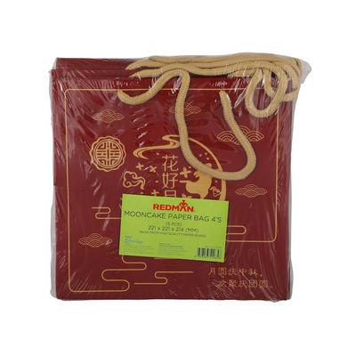 REDMAN MOONCAKE PAPER BAG 4S RED BUNNY 5PC
