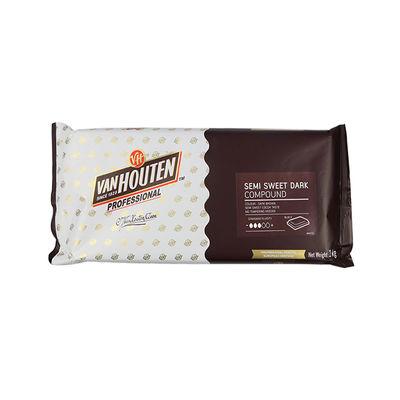 Van Houten Professional Semi-Sweet Dark Compound Block 1kg