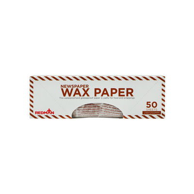 REDMAN WAX PAPER NEWSPAPER 218X250MM 50PC