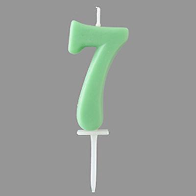 TOMIZ PASTEL NUMBER CANDLE 7