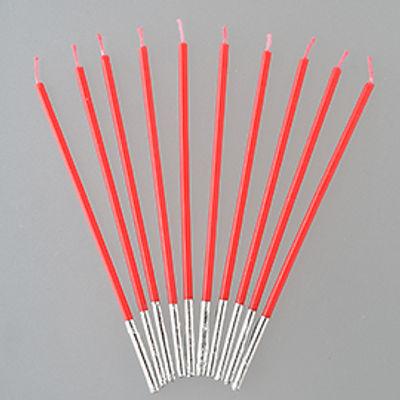 TOMIZ SLIM CANDLE (RED) (10PC)