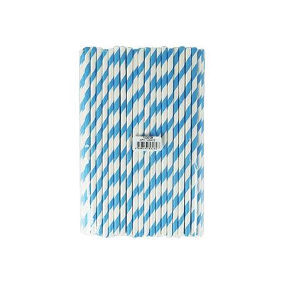 REDMAN PAPER STRAW BLUE/WHITE 6X197MM 100PC